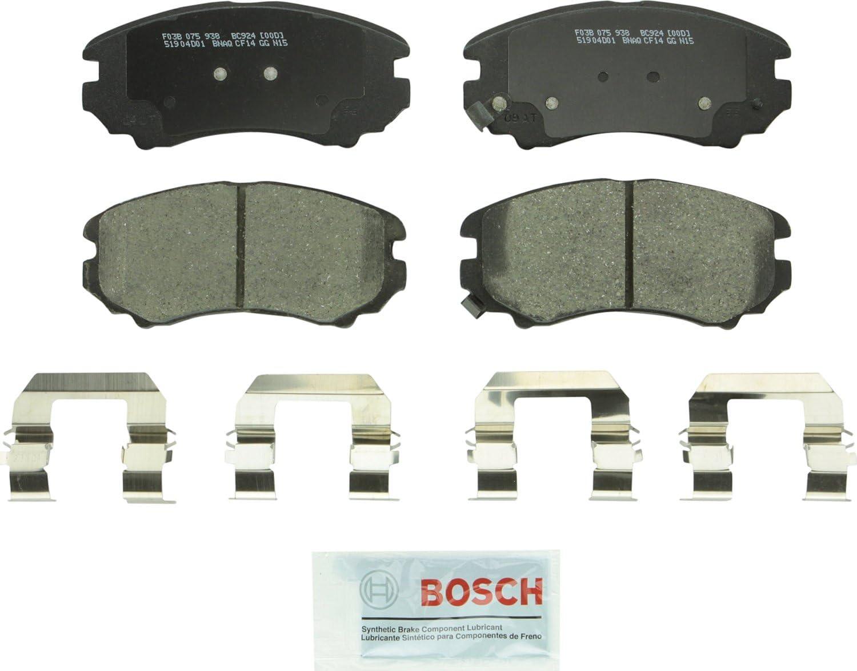 Bosch BC924 Deluxe QuietCast Premium Max 53% OFF Ceramic Disc Sel Brake Set For Pad