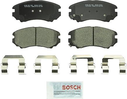 Bosch BC924 QuietCast Premium Ceramic Disc Brake Pad Set For Select Hyundai Azera, Elantra, Sonata, Tiburon, Tucson; Kia Amanti, Magentis, Optima, Soul, Sportage; Front