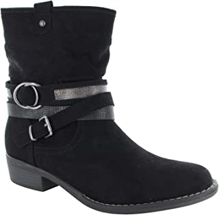 Womens Shin High Low Heel Slouch Boot Shoes