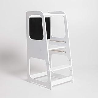 Sweet Home from Wood Chaise de cuisine avec tableau noir, tour de cuisine, tabouret de cuisine, tabouret de cuisine, tabou...