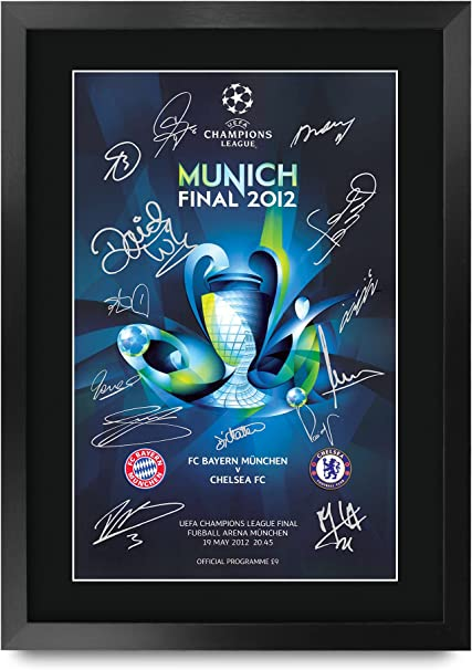 Champions League Munich 2012 - Signed A3 Photo Frame