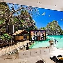 3D Wall Stickers & Murals Self-Adhesive Removable Stick Photo Wallpaper Hd Hawaiian Ocean View Living Room Tv Background Sofa Bedroomwallpaper Papel De Parede Size:250cmX175cm/98.42x68.89inch