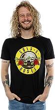 Guns N Roses Hombres Bullet Logo Camiseta Large Negro