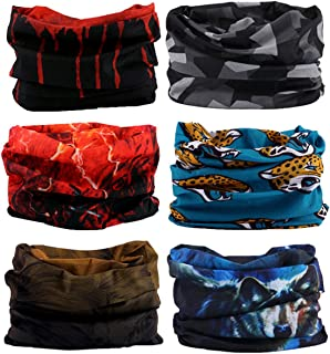 KINGREE 6PCS Outdoor Magic Scarf, Elastic Headbands, Headscarves, Headwear, Mask