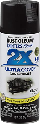 Rust-Oleum 249122-6 PK Painter's Touch 2X Ultra Cover, 6 Pack, Gloss Black