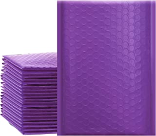 """UCGOU 4x8 Inches Poly Bubble Mailers Self Seal Purple Padded Envelopes Waterproof Envelopes Pack of 50 (Internal Size 4x7"""")"""