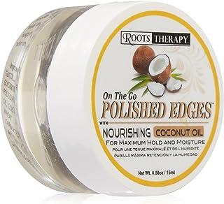 Okay polished edges with coconut oil on the go 0.50 fluid ounce, Off-white, 0.5 Fluid Ounce