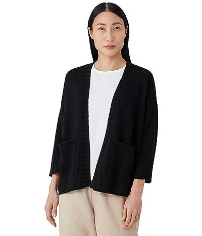 Eileen Fisher 3/4 Sleeve Cardigan in Organic Linen Cotton