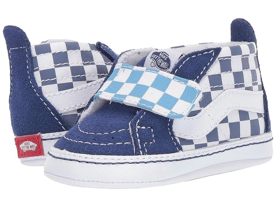 Vans Kids SK8-Hi Crib (Infant/Toddler) ((Checkerboard) True Navy/Bonnie Blue) Boys Shoes