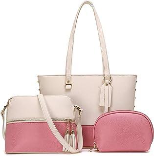 JOSEKO Bolso de mano de mujer, bolso de mensajero, bolso de hombro con imagen grande, bolso de madre, conjunto de tres pie...