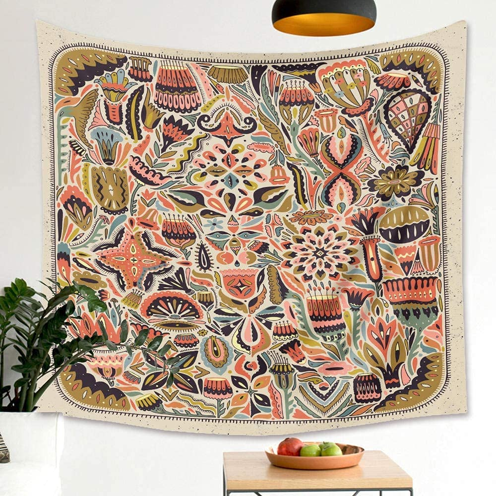 Wall Tapestry Home Decoration 5% OFF NEW before selling ☆ Colourful Tapestries Back