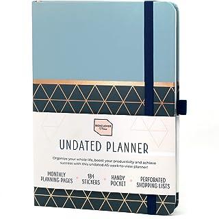 Boxclever Press Perfect Niedatowany roczny Planer A5. 12-miesięczny niedatowany planer tygodniowy, aby rozpocząć osiąganie...