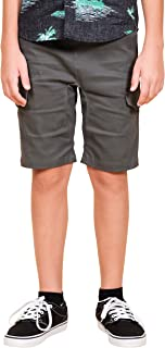 Boys' Big Cargo Slim Fit Multi Pocket Stretch Twill Short