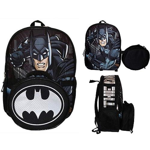 a06479a597c DC Comics Batman Dark Knight Backpack with Detachable Lunch Bag - Kids