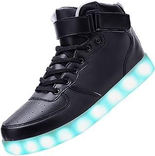 comprar comparacion Padgene Unisex Zapatillas LED para Hombre Mujere con Luces (7 Colores) USB Carga Zapatos de Deporte