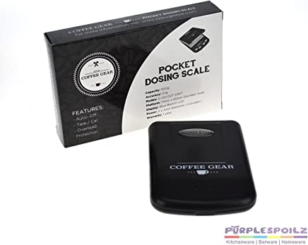 NEW COFFEE GEAR POCKET DOSING SCALE Digital Gram Electronic LCD Measuring 0.1g