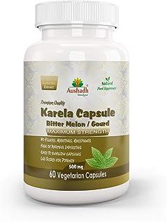 Aushadh Bitter Gourd (Karela) Capsule, 60 Capsules(Packaging may vary)