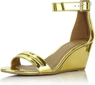DailyShoes Women's Summer Fashion Design Ankle Strap Buckle Low Wedge Platform Heel Sandals Shoes