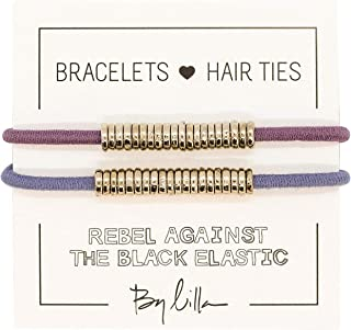 By Lilla DISC ELASTICS - BRIGHTS/SILVER (more colors available) (bellflower/dusk blue)
