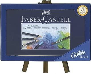 Lápices Acuarelables FABER-CASTELL Art-Grip, Caja x36 + Caballete