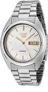 Seiko Men's SNXG47 Seiko 5 Automatic White Dial Stainless Steel Watch