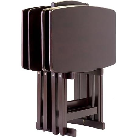 Espresso Winsome Skippy 5-Piece TV Table Set Peanut Top