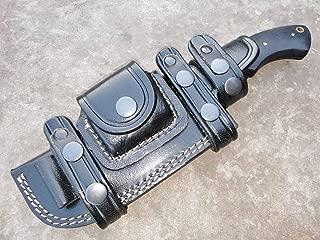 Ottoza Custom Handmade Shadow 1095 Carbon Steel Tracker Knife with Micarta Handle - Survival Knife - Camping Knife - Black Tactical Knife - Hunting Knife with Sheath Horizontal Fixed Blade Knife