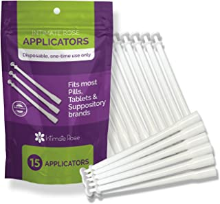 15 Count Vaginal Suppository Applicators, Individually Wrapped, Disposable Applicator - Fits Most Boric Acid Suppositories...