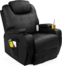 Best Choice Products Executive Faux Leather Swivel Electric Glider Massage Recliner Chair..