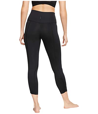 Nike Yoga Ruche 7/8 Tights (Black/Dark Smoke Grey) Women