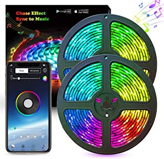 LED Strip Lights Abtong Music LED Lights Strip RGB 10M 33.8ft Bluetooth Strip Lights Dreamcolor Smart Phone APP Control Rope Lights Waterproof LED Strip Kit Support iPhone Android Rainbow Led Lights