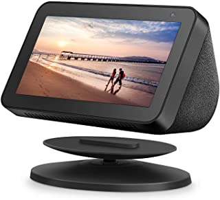 Adjustable Stand for Echo Show 5, Adjustable Stand Mount Accessories Compatible with Show 5, Magnetic Attachment,360 Degree Swivel, Tilt Function, Anti-Slip Base, Black