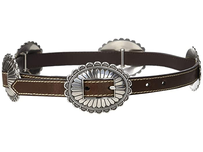 M&F Western Nocona Oval Concho Belt (Brown) Women