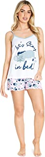 Disney Pijamas Mujer, Conjunto 2 Piezas Camiseta Tirantes y Shorts, Pijama Mujer Eeyore de Algodon, Regalos para Mujer y A...