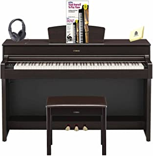 Yamaha YDP-184 Arius 88-Key Digital Piano with GH3 Graded Hammer Keyboard & CFX Concert Grand Piano Sample (Included Music Book, Bench & AC Power Adapter) Piano (Book & DVD) Headphone and Piano Cloth
