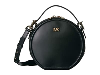 MICHAEL Michael Kors Delaney Medium Top-Handle Canteen Messenger (Black) Handbags