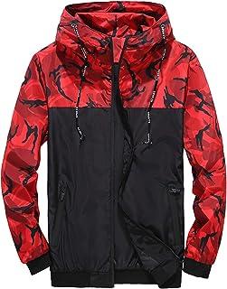 Sexy Dance Men's Camouflage Hooded Windproof Jacket Winter Windbreaker Coat