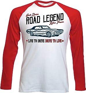 Teesandengines Mercury Cougar Camiseta de Mangas roja largas T-Shirt