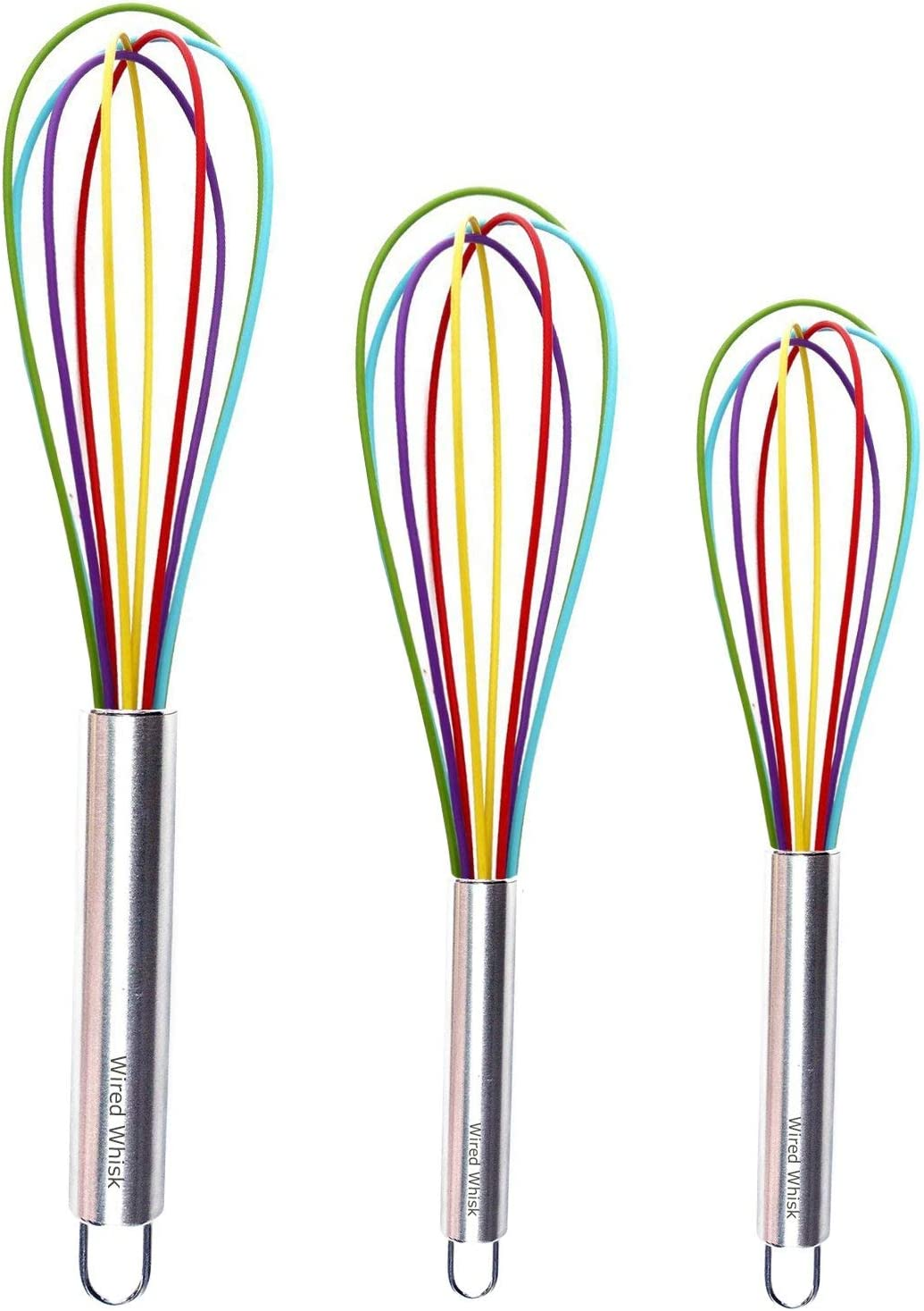 Silicone half Whisk Set of 3 - Al sold out. Steel C Stainless Non-Stick