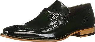 حذاء رجالي من STACY ADAMS بتصميم Tanner Moc Toe بدون كعب ، أخضر داكن، 8. 5 M US
