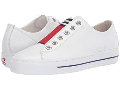 Paul Green Abby (White/Red Leather) Women