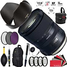 Tamron SP 24-70mm f/2.8 Di VC USD G2 Lens for Canon EF with Heavy Duty Lens Case and Accessories