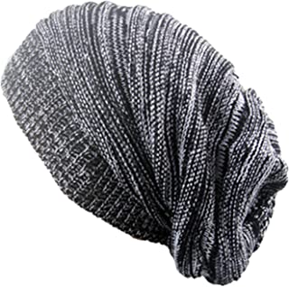 Bestjybt Women Men Knitting Beanie Wool Baggy Oversize Slouchy Hip-Hop Winter Warm Skull Caps Hats