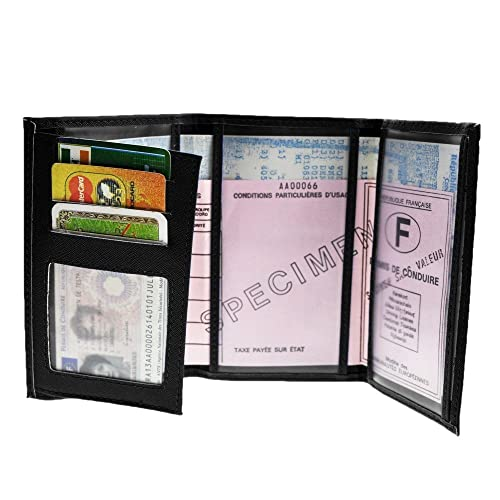 Kinsell/® Pack /Étui de protection porte permis de conduire carte grise et pi/èce didentit/é porte carte