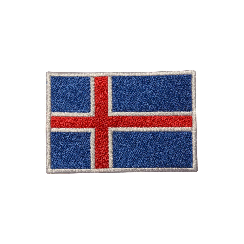 Parche bordado con la bandera de Islandia, para coser o planchar, para ropa, etc.: Amazon.es: Hogar