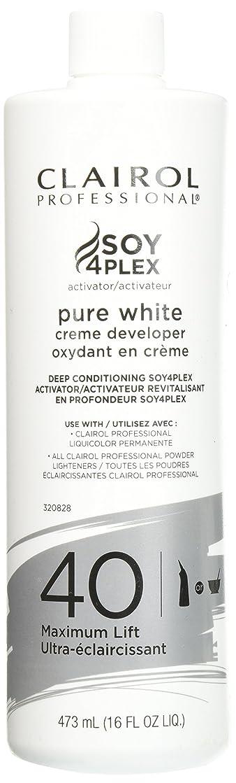 ブローホール比類なき若いClairol Professional Soy4plex Pure White Creme Hair Color Developer, 40 Volume by Clairol