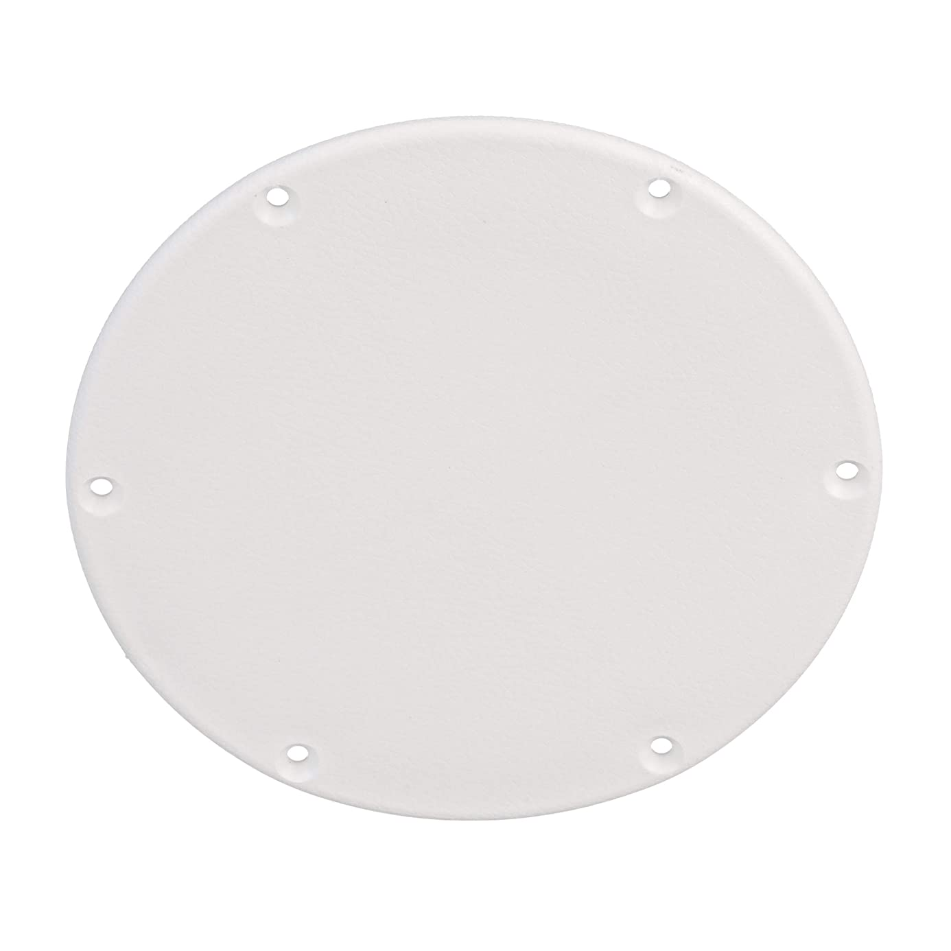 SEACHOICE 39591 Mounted Boat Plate Cover, Arctic White Finish, up to 6 Inches