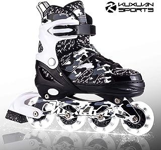 Kuxuan Boys Camo Black & Silver Adjustable Inline Skates