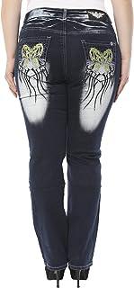 Crazy Age spodnie jeansowe XXL, tatuaże Tribaltatowe, rozmiary 42-50