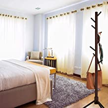 Orchid M 8 Hooks Wooden Coat Rack Stand with, Entryway Hall Tree with 3 Wood Prong Legs and 3 Adjustable Sizes Free, Coat ...